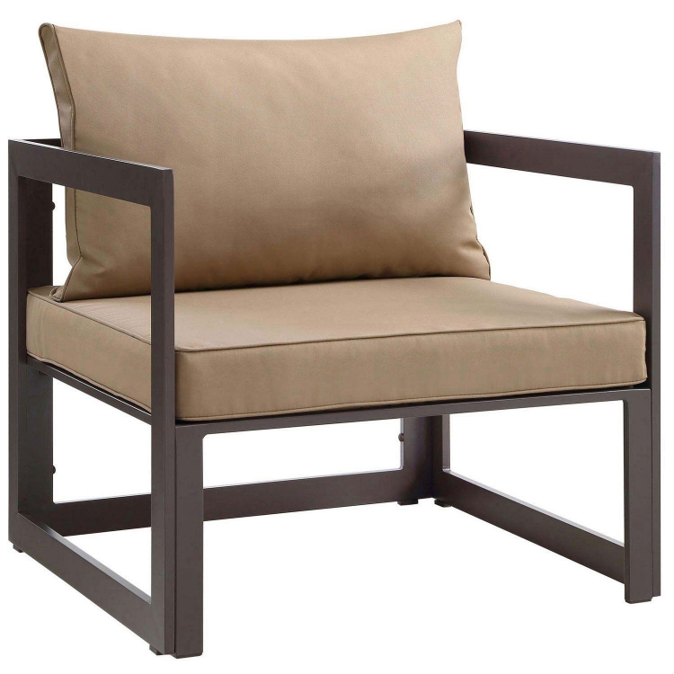 Fortuna Outdoor Patio Armchair - Brown/Mocha