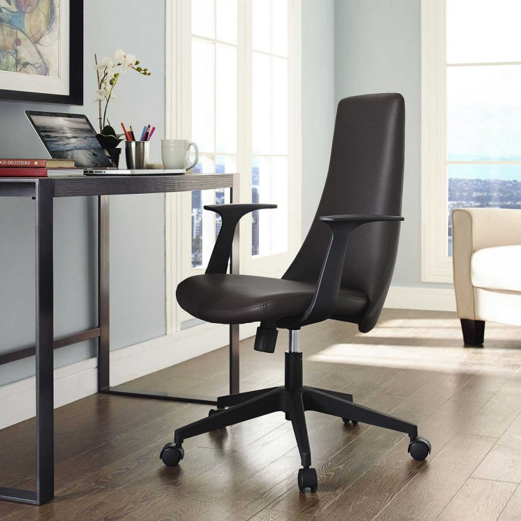 Fount Mid Back Office Chair - Brown