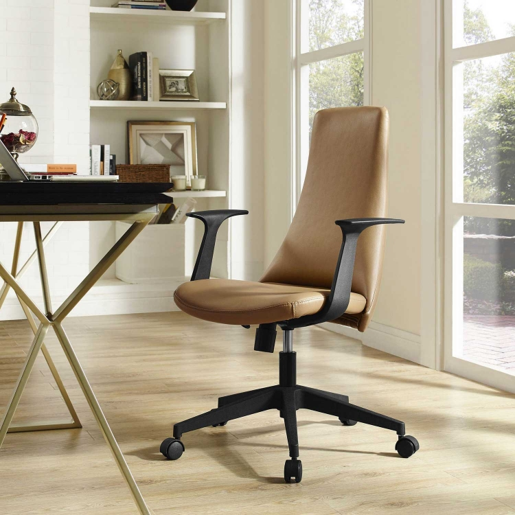 Fount Mid Back Office Chair - Tan