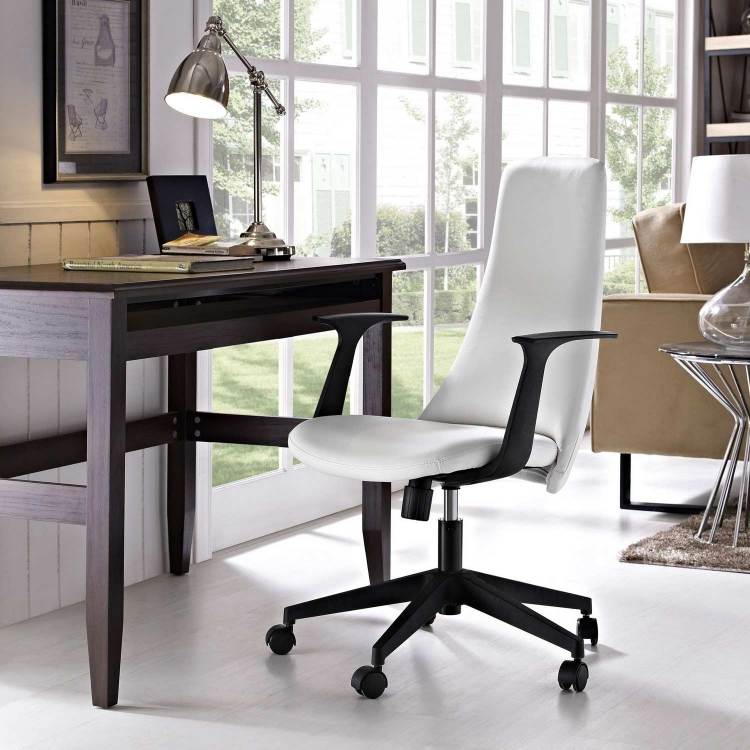 Fount Mid Back Office Chair - White