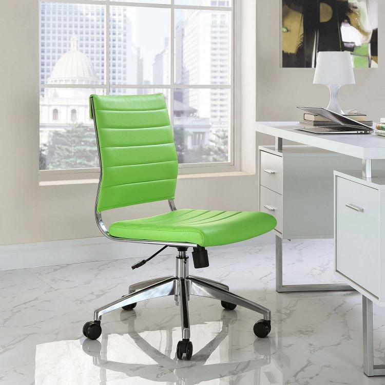 Jive Armless Mid Back Office Chair - Bright Green