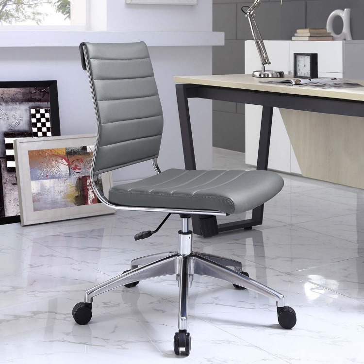 Jive Armless Mid Back Office Chair - Gray