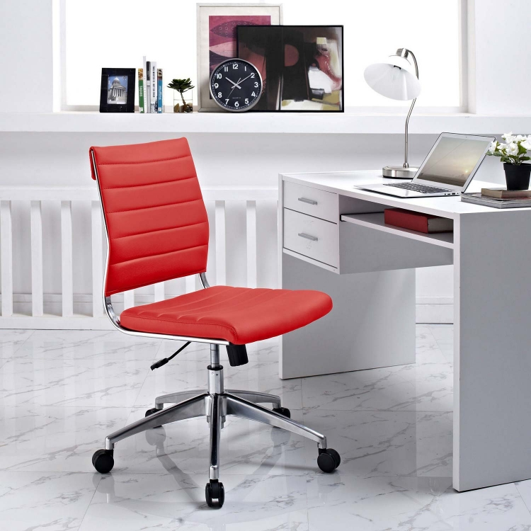 Jive Armless Mid Back Office Chair - Red