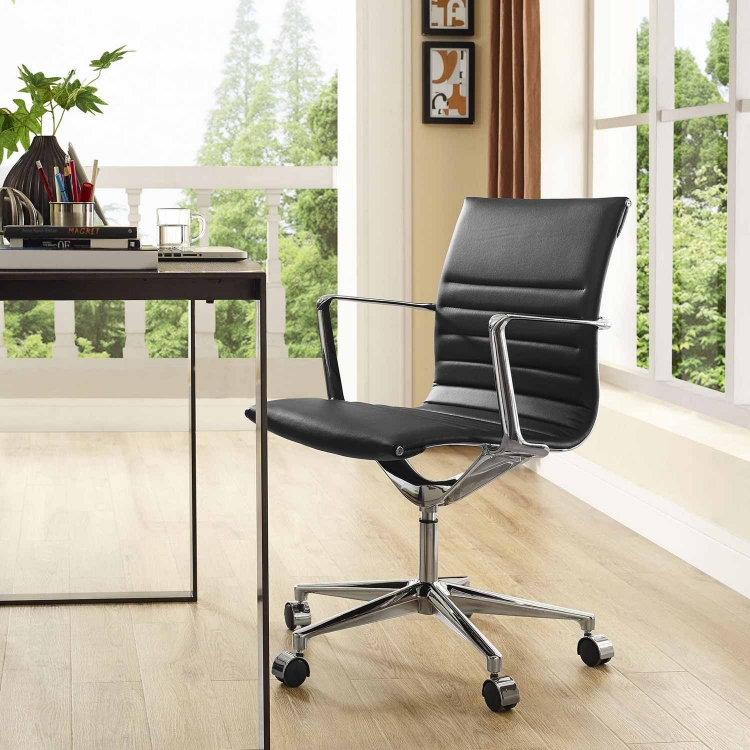 Vi Mid Back Office Chair - Black