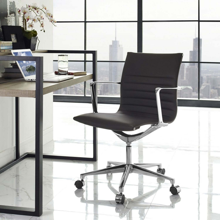 Vi Mid Back Office Chair - Brown