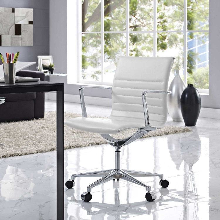 Vi Mid Back Office Chair - White