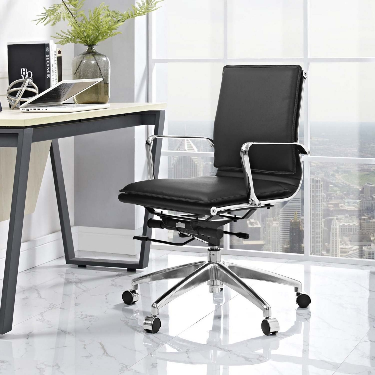 Sage Mid Back Office Chair - Black