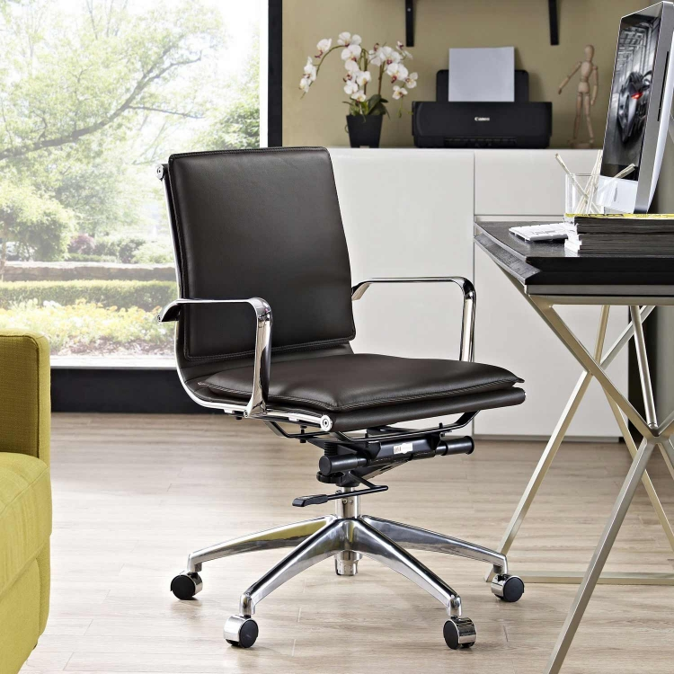 Sage Mid Back Office Chair - Brown