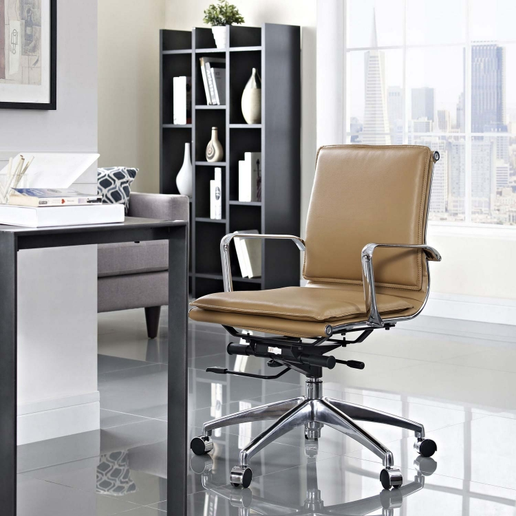 Sage Mid Back Office Chair - Tan
