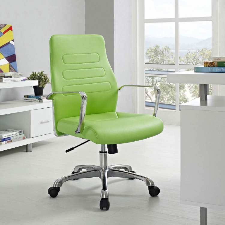 Depict Mid Back Aluminum Office Chair - Bright Green