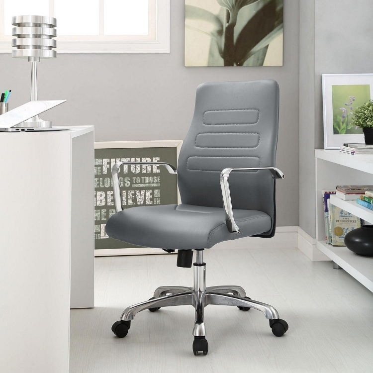Depict Mid Back Aluminum Office Chair - Gray