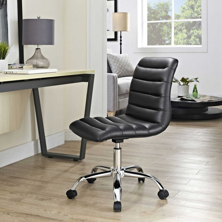 Ripple Armless Mid Back Office Chair - Black