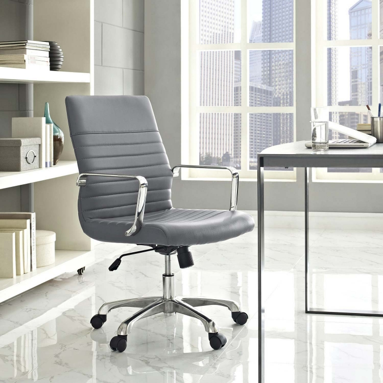Finesse Mid Back Office Chair - Gray