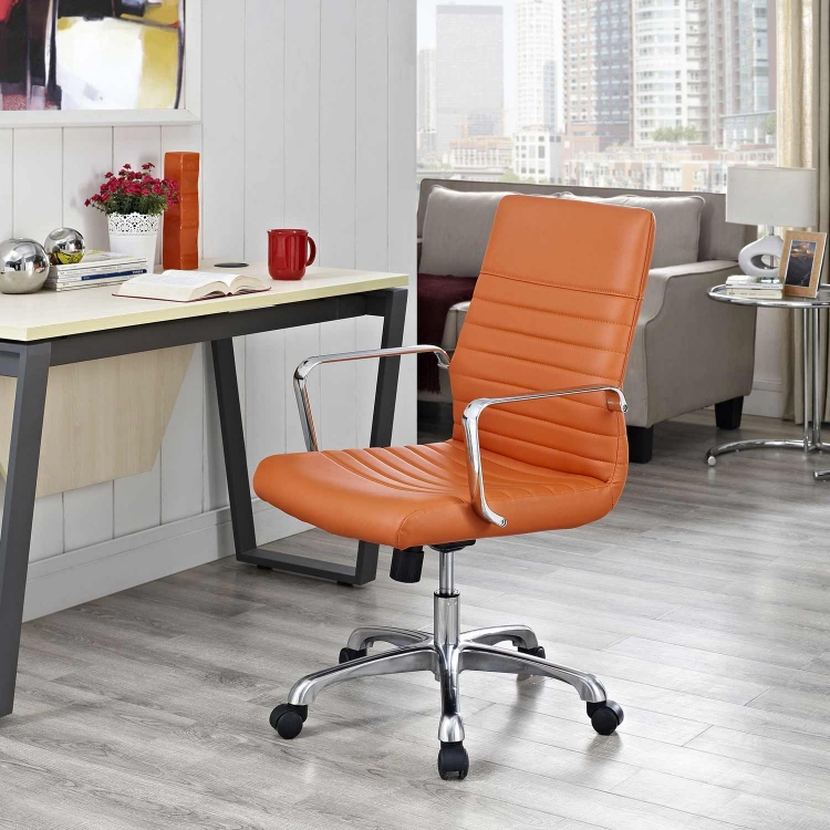 Finesse Mid Back Office Chair - Orange