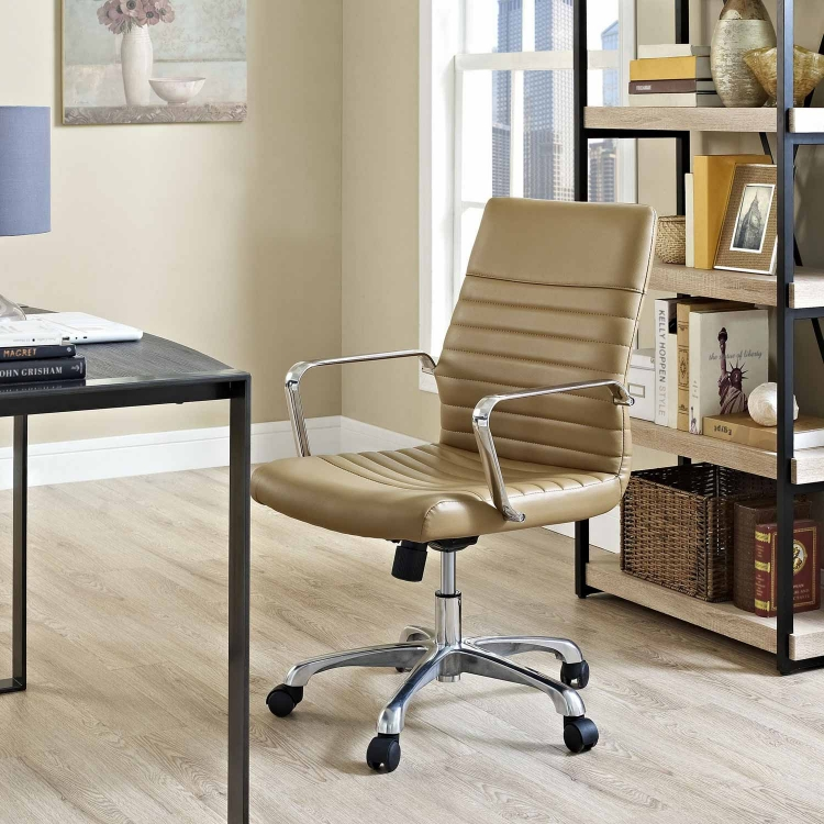 Finesse Mid Back Office Chair - Tan