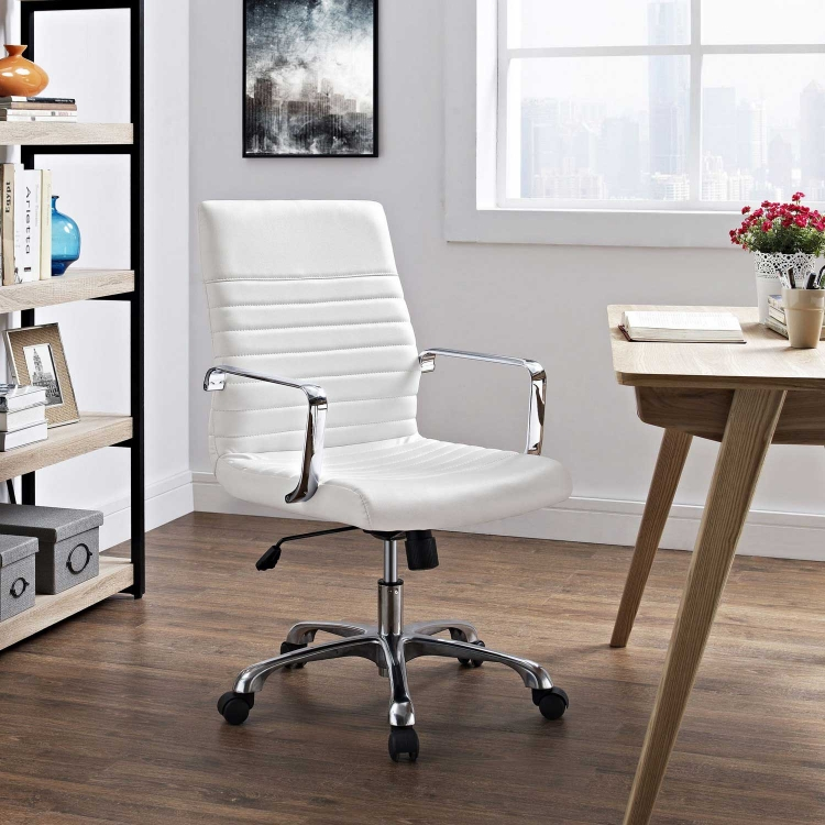 Finesse Mid Back Office Chair - White