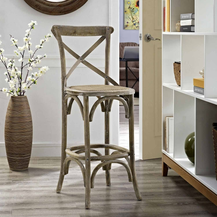 Gear Bar Stool - Gray