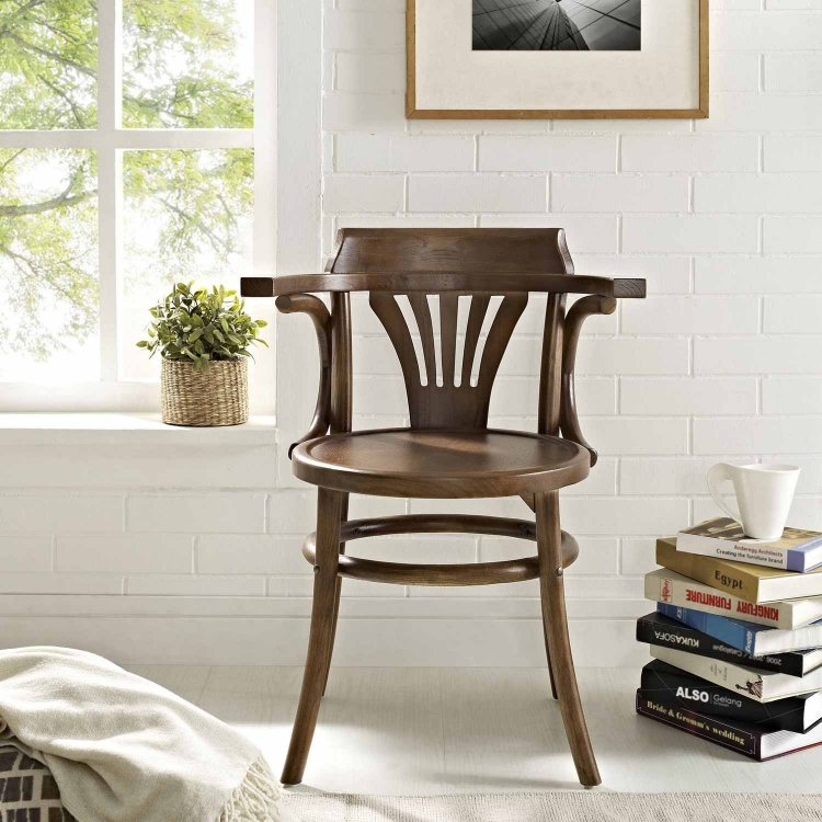 Stretch Dining Side Chair - Walnut