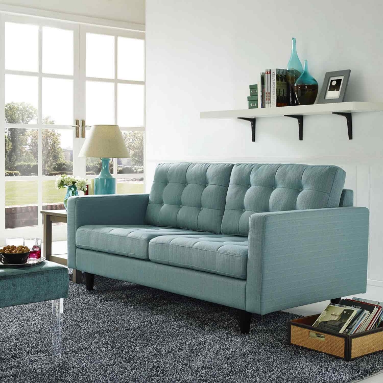Empress Upholstered Loveseat - Laguna