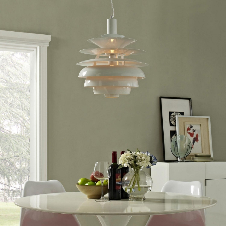 Rebound 17 Stainless Steel Chandelier - White