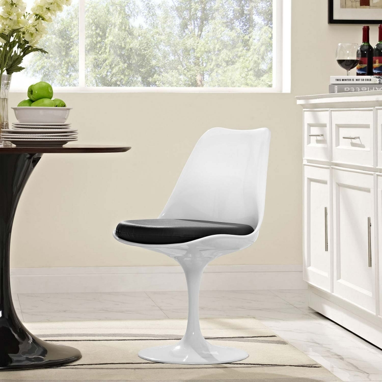 Lippa Dining Vinyl Side Chair - Black
