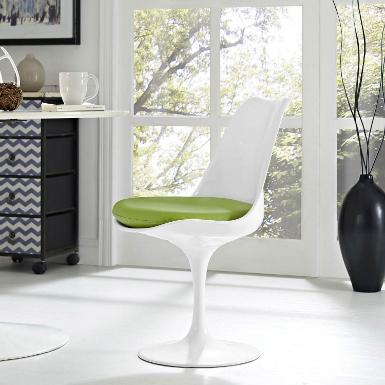 Lippa Dining Vinyl Side Chair - Green