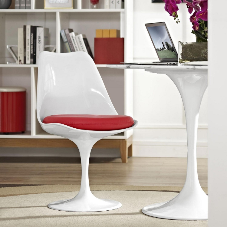 Lippa Dining Vinyl Side Chair - Red