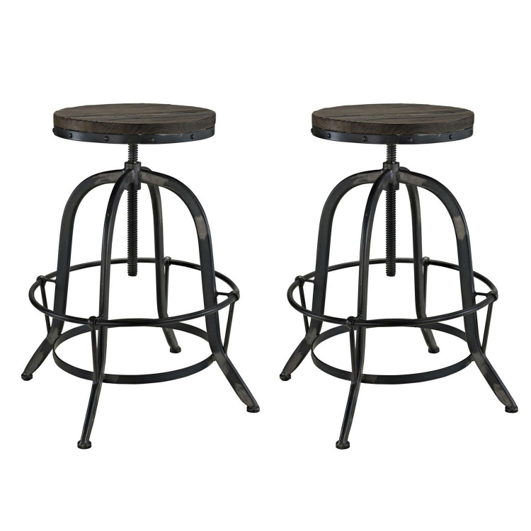 Collect Bar Stool Set of 2 - Black