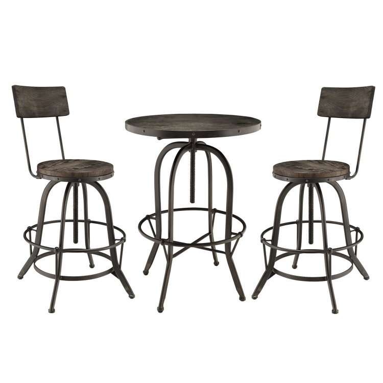 Gather 3 Piece Dining Set - Black