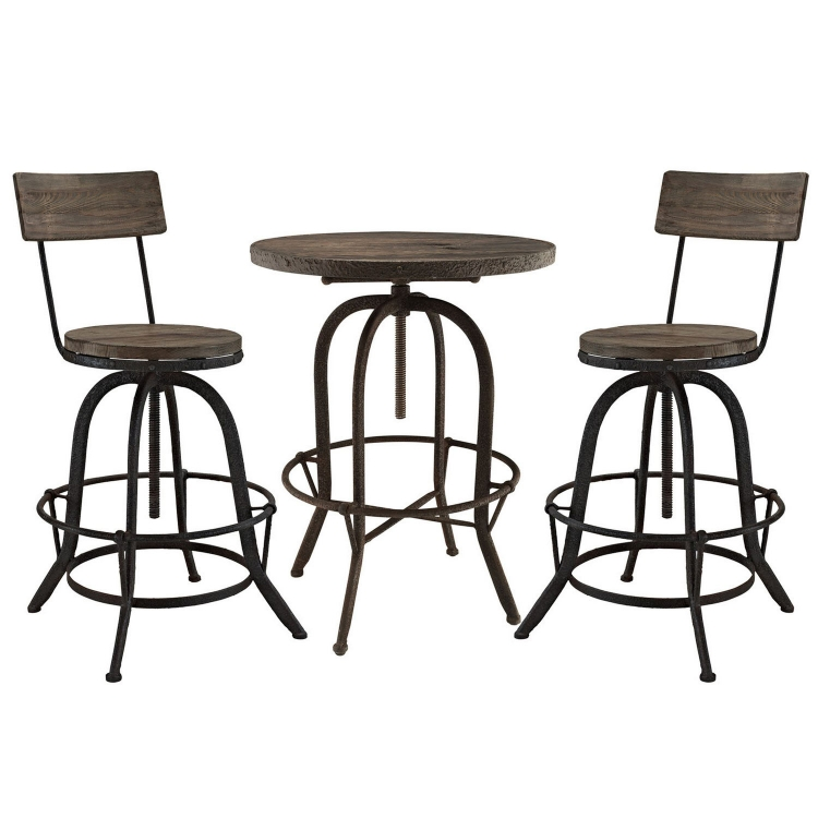 Gather 5 Piece Dining Set with Counter Stool - Brown
