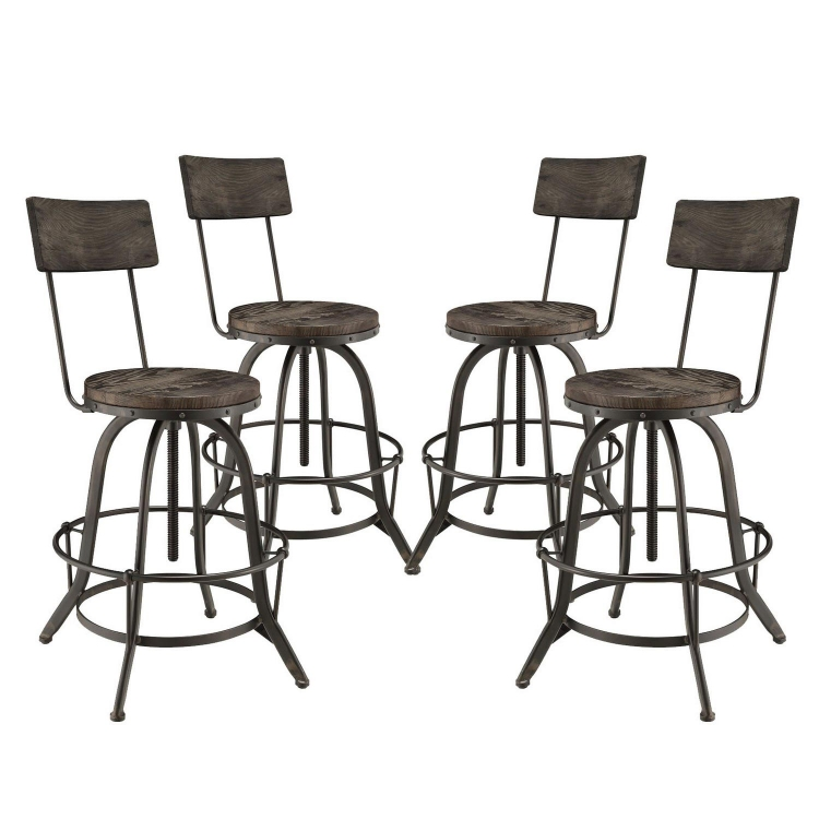 Procure Bar Stool Set of 4 - Black