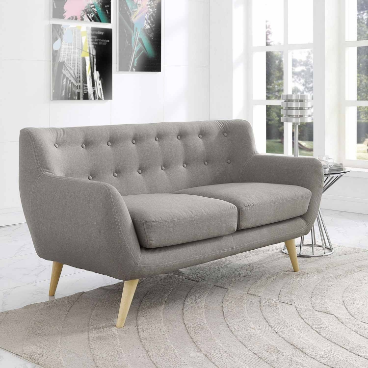 Remark Loveseat - Light Gray