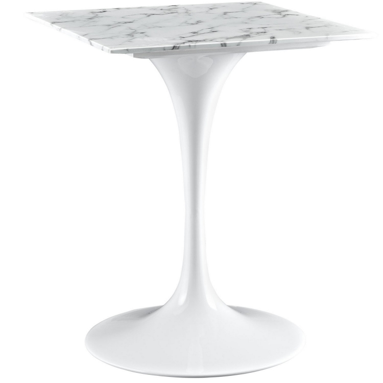 Lippa 24 Marble Top Dining Table - White