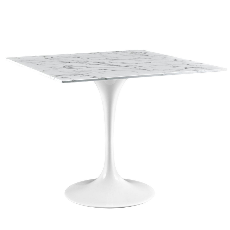 Lippa 36 Marble Dining Table - White