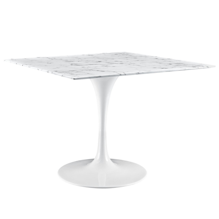 Lippa 40 Marble Dining Table - White
