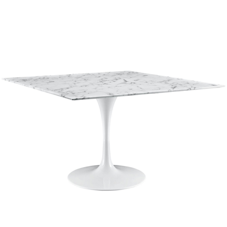 Lippa 48 Marble Dining Table - White