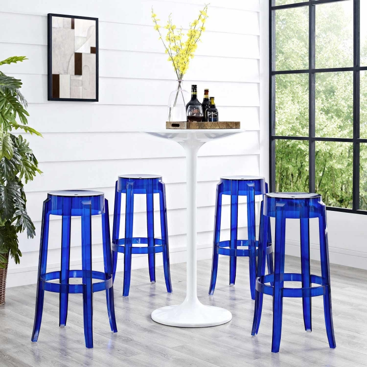 Casper Bar Stool Set of 4 - Blue