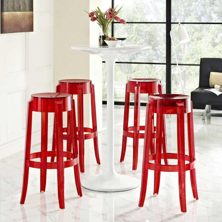 Casper Bar Stool Set of 4 - Red