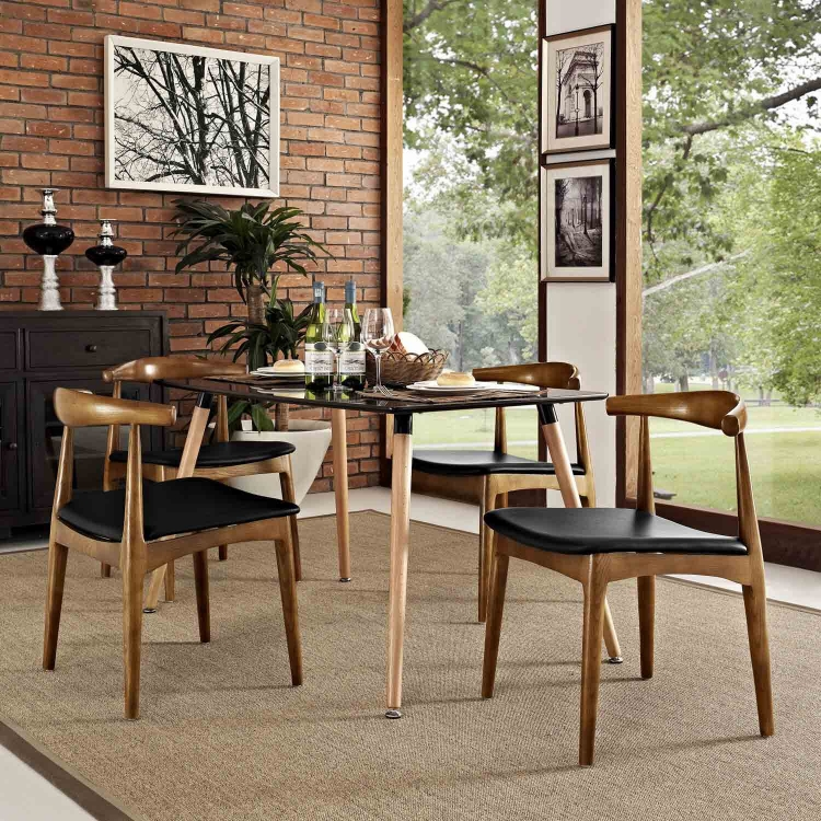 Tracy Dining Chairs Set of 4 - Black