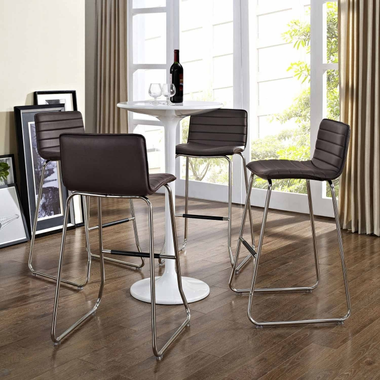 Dive Bar Stool Set of 4 - Brown