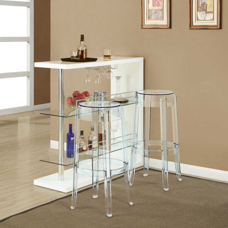 Casper Bar Stool - Clear