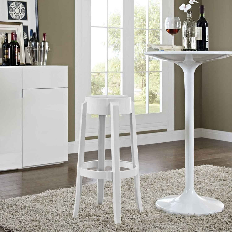 Casper Bar Stool - White