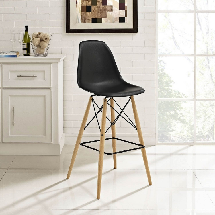 Pyramid Bar Stool - Black