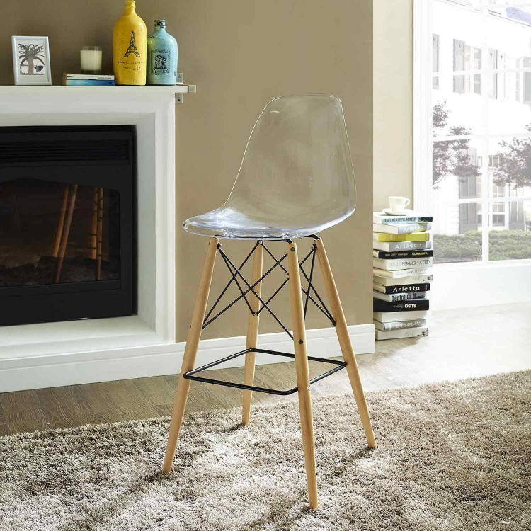 Pyramid Bar Stool - Clear