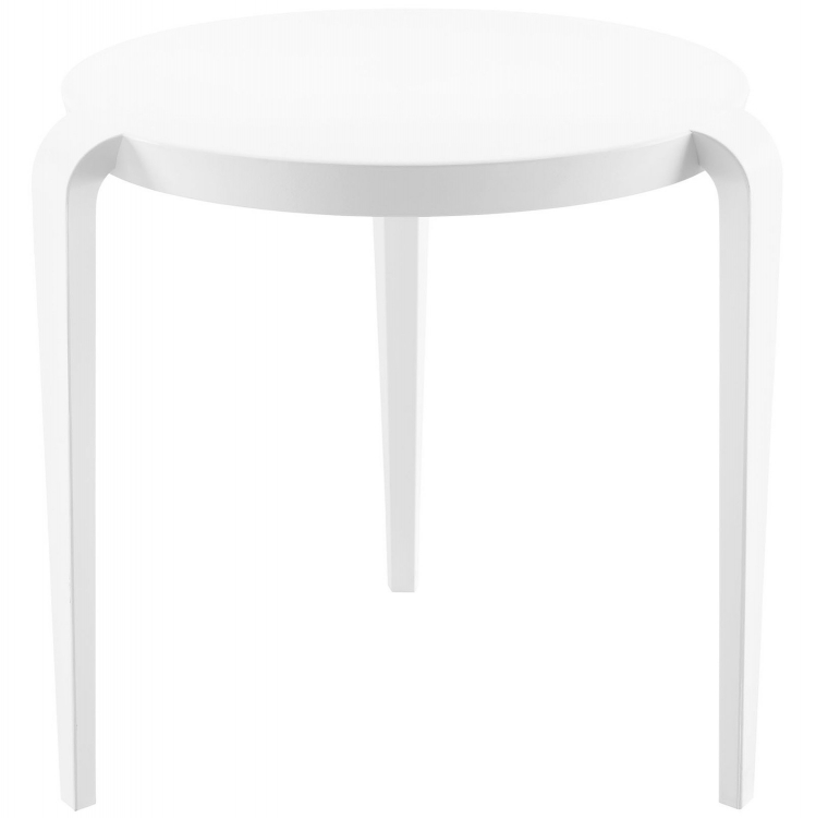 Spin Side Table - White