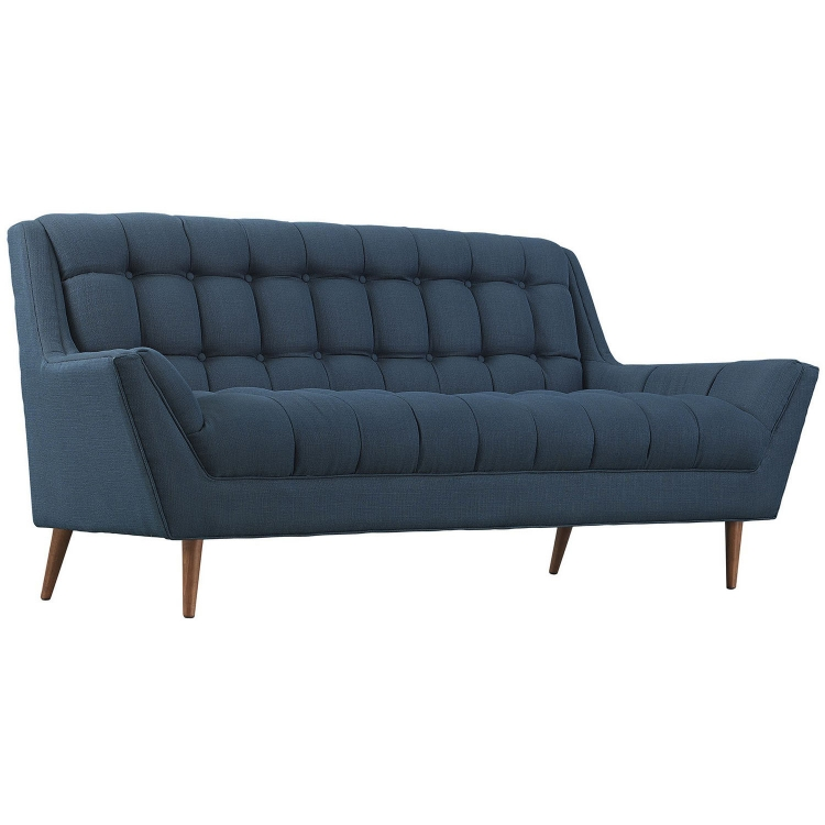Response Fabric Loveseat - Azure