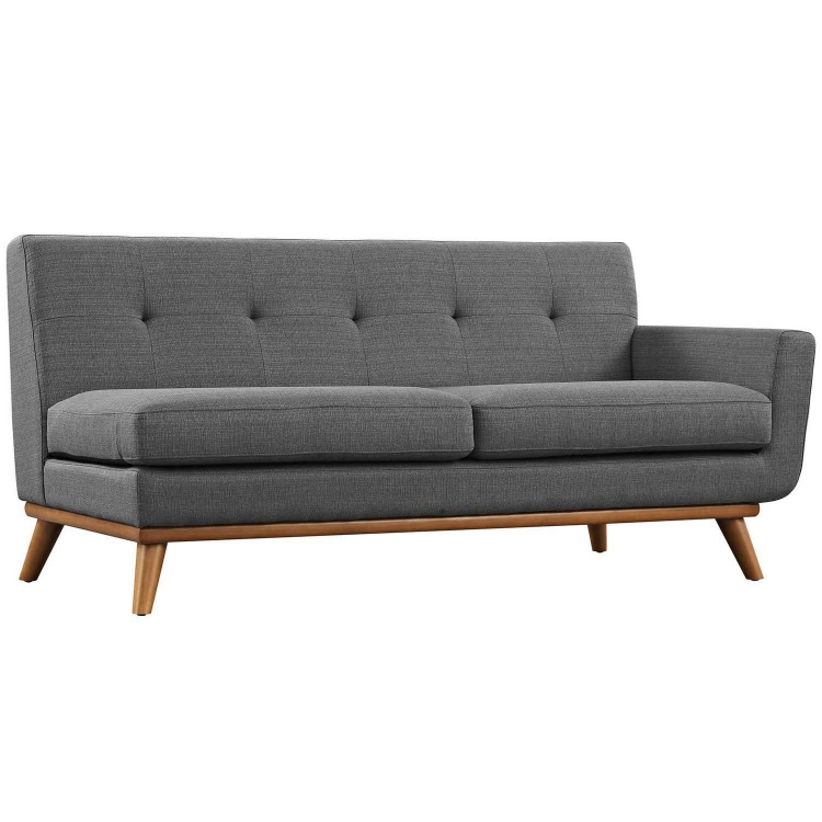 Engage Right Arm Loveseat - Gray