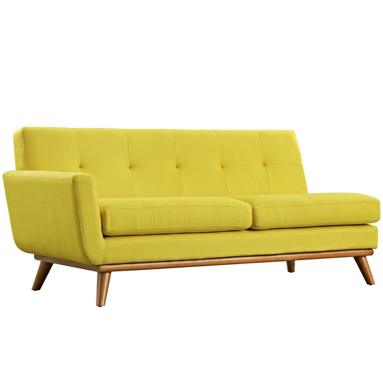 Engage Left Arm Loveseat - Sunny