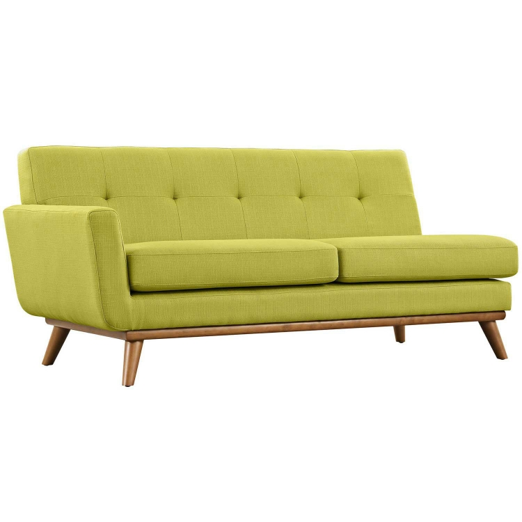 Engage Left Arm Loveseat - Wheatgrass