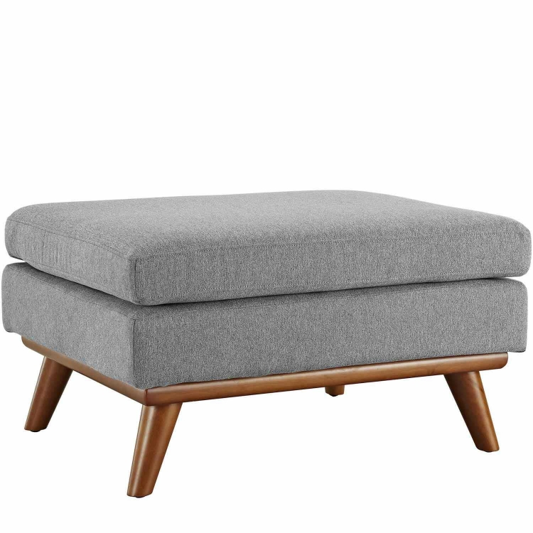 Engage Fabric Ottoman - Expectation Gray